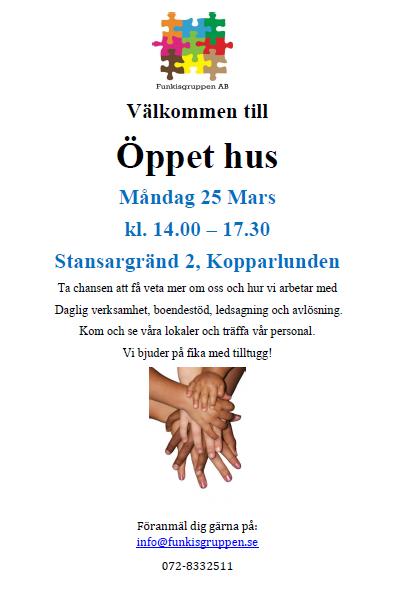 Öppet hus i Västerås!