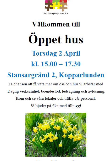Varmt välkommen på öppet hus i Västerås!